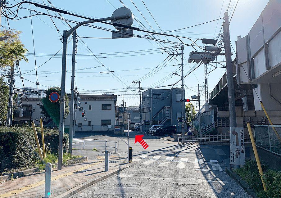 田無駅ガード下の信号を渡り、直進する。